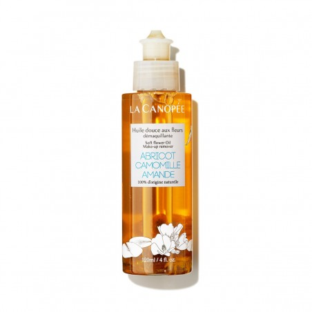 La Canopée - Huile démaquillante et nettoyante douce aux fleurs - Vegan & 100% Naturelle - Select store Cosmétiques Vegans