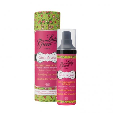 Lady Green - Soin Embellisseur Elixir de Jour pour Peaux Mixtes à Grasses - Vegan - Select Store Cosmétiques Vegans