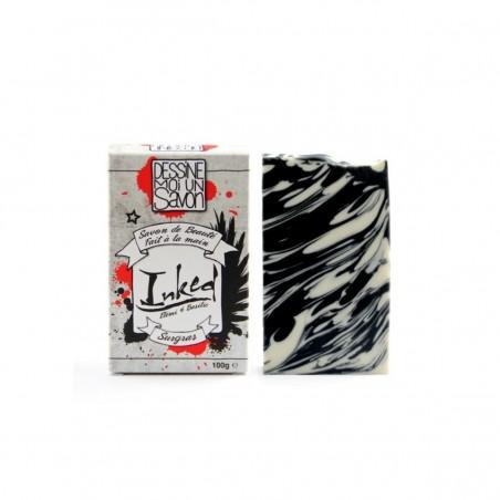 Dessine moi un savon - Savon Surgras - Inked - Basilic & Elemi - 100 g - Vegan & Zéro déchet - Select Store Cosmétiques Vegans