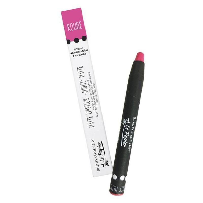 Le Papier - Lipstick - Rouge à lèvre Mat - Maquillage Vegan, Naturel & Zéro déchet - Select Store Cosmétiques Vegans