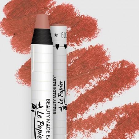 Le Papier - Lipstick - Soin, Brilliant à lèvre hydratant - Glossy - Maquillage Vegan, Naturel & Zéro déchet - Cosmétiques Vegans