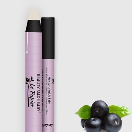 Le Papier - Soin, baume hydratant pour les lèvres parfumé - Maquillage Vegan, Naturel & Zéro déchet - Cosmétiques Vegans