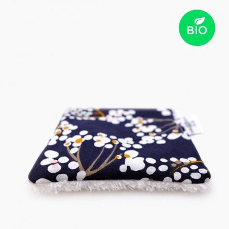 Petit Carré Français - Lingette Multi Usage lavable en Coton Bio - Accessoire Eco-Responsable & Zéro Déchet - Cosmétiques Vegans