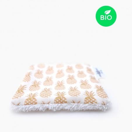 Petit Carré Français - Lingette en tissu lavable - Coton Bio - Eco-Responsable & Zéro Déchet - Cosmétiques Vegans