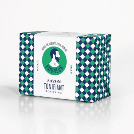Le Baigneur - Savon solide pour homme - Tonifiant - Vegan, Bio et Fabriqué en France - Select Store Cosmétiques Vegans