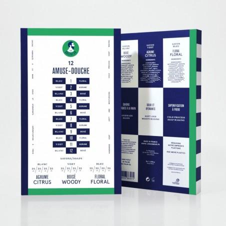 Le Baigneur - Coffret pour Homme - 12 Savons Solides - Amuse Douche - Vegan, Bio - Select Store Cosmétiques Vegans
