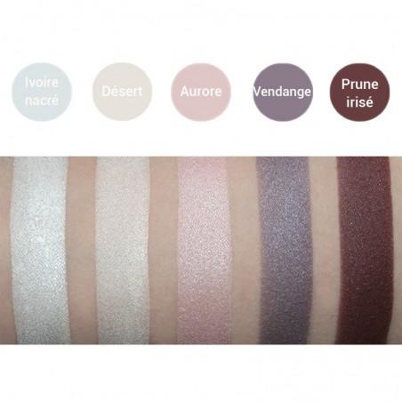 Avril - Fard à Paupières Prune Irisé - Maquillage Bio et Végan - Select Store Cosmétiques Vegans