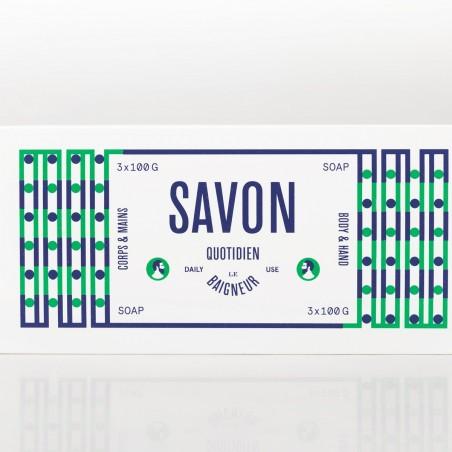 Le Baigneur - Coffret pour Homme - 3 Savons Solides - Vegan, Bio & Fabriqué en France - Select Store Cosmétiques Vegans