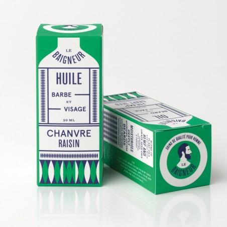 Le Baigneur - Huile Visage et Barbe pour homme - Chanvre - Vegan, Bio et Fabriqué en France - Select Store Cosmétiques