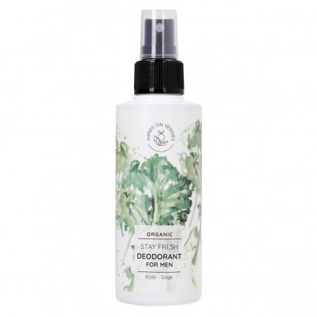Hands On Veggies - Déodorant Spray - Stay Fresh - Choux Kale & Sauge - Vegan , Naturel & Bio - Select store Cosmétiques Vegans
