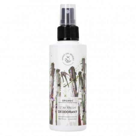 Hands On Veggies - Déodorant Spray - Stay Fresh -Bambou & Lavande - Vegan , Naturel & Bio - Select store Cosmétiques Vegans