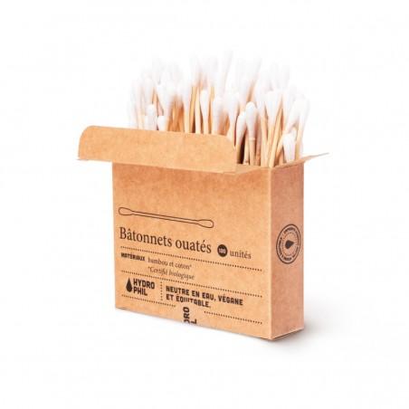 Coton-tiges ouatés - Bambou & Coton Bio - 100 unités Hydrophil - 2
