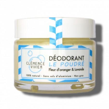 Clémence & Vivien - Déodorant solide crémeux - Le Poudré - Déodorant soin et naturel - Vegan et Naturel - Cosmétiques Vegans
