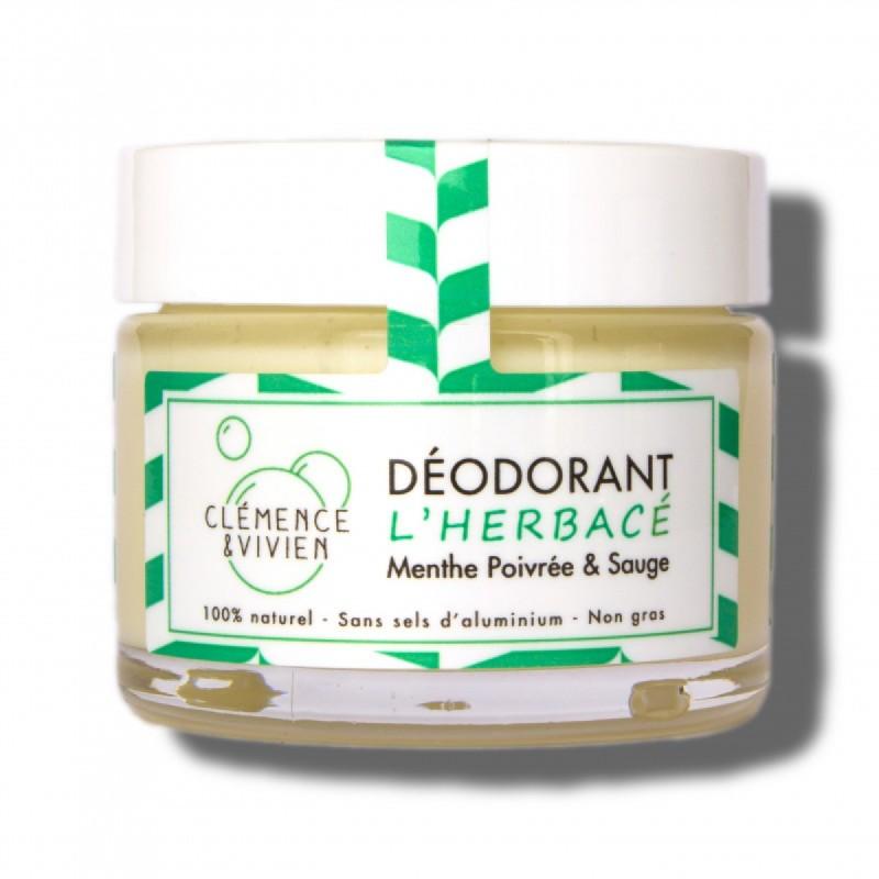 Clemence & Vivien - Déodorant Naturel Vegan Menthe - L'Herbacé - Vegan & Slow Cosmétique - Select Store Cosmétiques Vegans
