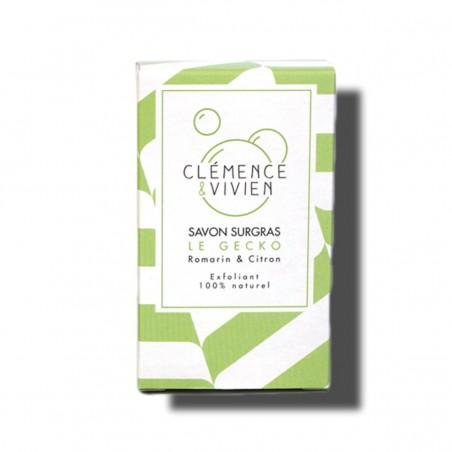 Clémence et Vivien - Savon solide exfoliant et purifiant - Surgras et Saponifié à Froid - Bio, Vegan & Naturel