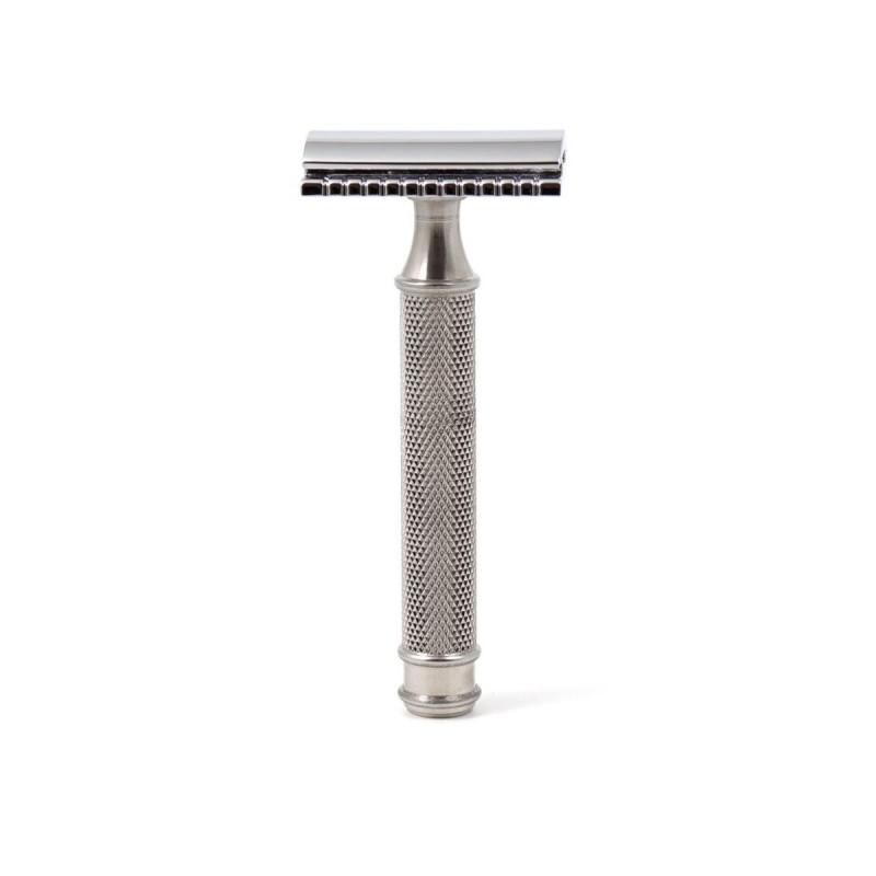 Gentleman Barbier - Rasoir de sûreté en Acier Inoxydable - Rasage et épilation économique et écologique