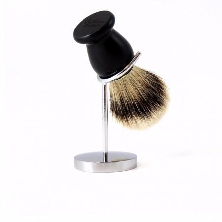 Gentleman Barbier - Support à blaireau - Acier Chromé - Select store éthique Cosmétiques Vegans