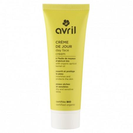 Crème de Jour Bio pour peau sèche et sensible. Végan. Avril