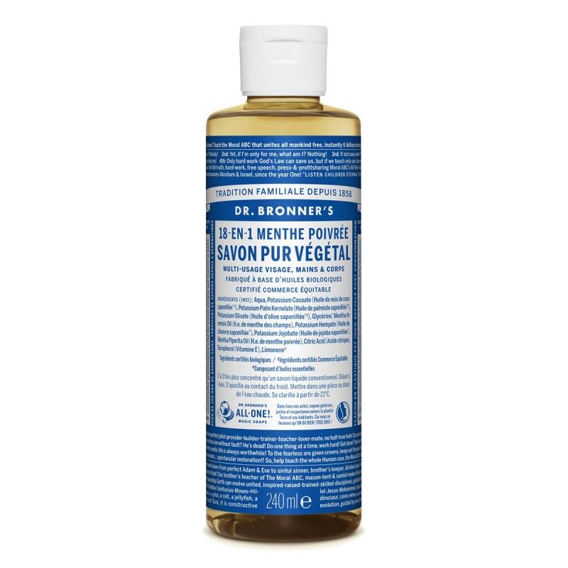Dr Bronner - Savon liquide Bio - 12 en 1 Vegan & Naturel - Select Store Cosmétiques Vegans