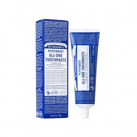 Dr Bronner's - Dentifrice sans fluor Vegan & Naturel - Select Store Cosmétiques Vegans