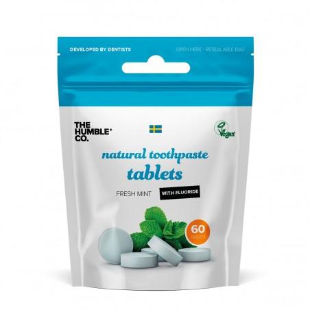 The Humble - Pastille de dentifrice solide à la menthe avec fluor - Zéro déchet & Vegan - Select store Cosmétiques Vegans