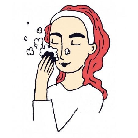 Nettoyant visage solide pour peau mixte à grasse. Au pamplemousse. Végan et Bio. Lamazuna
