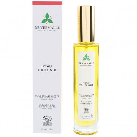 De Vermalle - Huile Démaquillante Bio & Vegan - Jojoba & Thé Vert - Select Store Cosmétiques Vegans