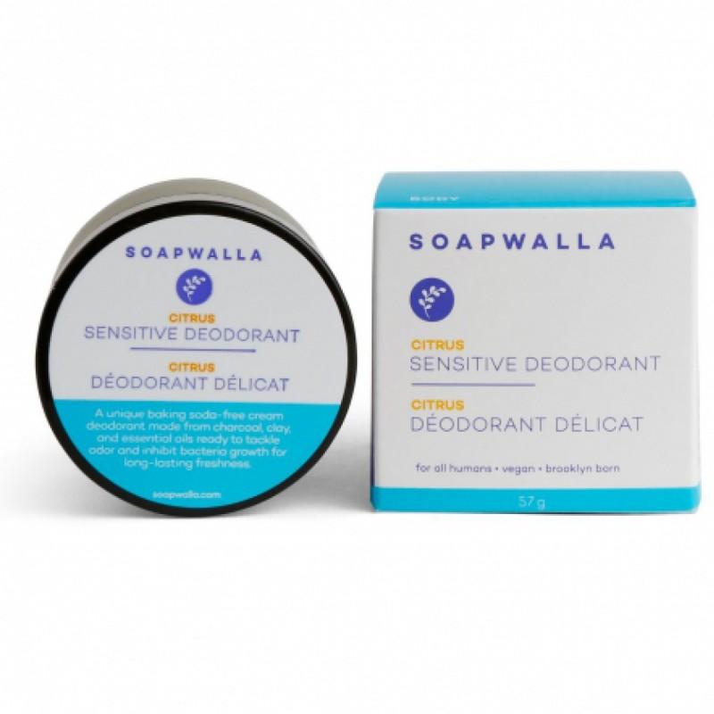 Soapwalla - Déodorant Crème Bio, Naturel & Vegan - Spécial Peau Sensible - Agrumes - Select store éthique Cosmétiques Vegans