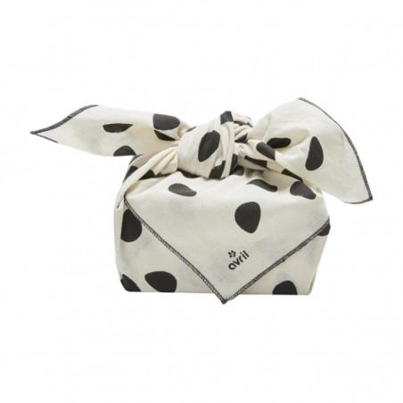 Avril - Furoshiki Coton Bio - Emballage cadeau Zéro déchet et réutilisable - Select Store Cosmétiques Vegans