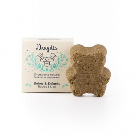 Druydès - Shampoing Solide Bio - Spécial Bébé - Huile de Son de riz - Vegan, Bio & Zéro Déchet - Select Store Cosmétiques Vegans