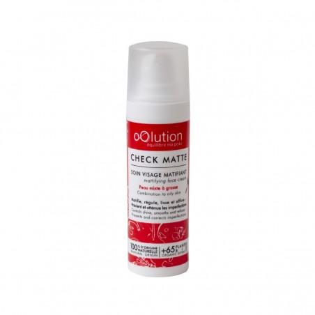 oOlution - Crème matifiante et purifiante - Check Matte - Soin du visage vegan, naturel & bio - Select store Cosmétiques Vegans