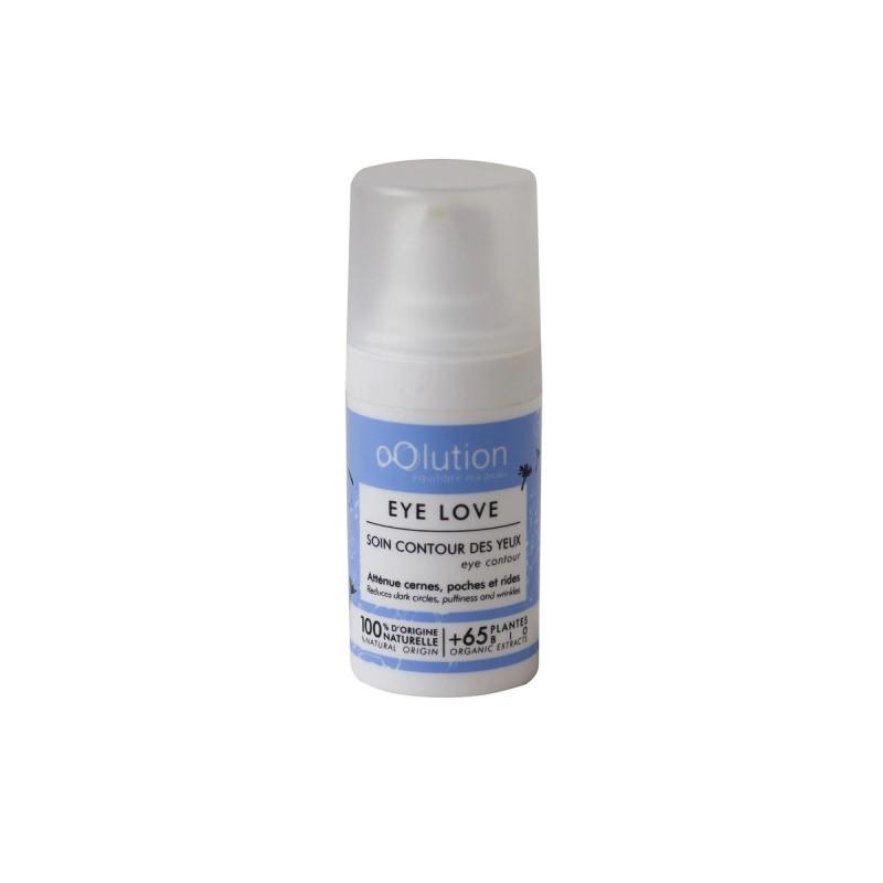 oOlution - Soin contour des yeux - Eye Love - Anti-cernes, Anti-poches, Antirides vegan, naturel & bio