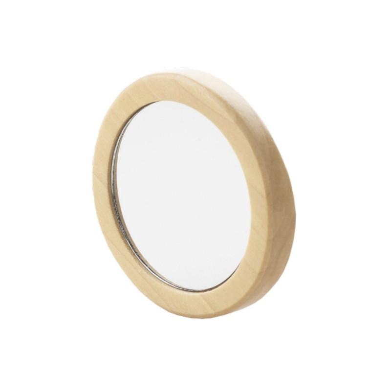 Avril - Miroir de poche en Bois - Accessoire salle de bain pratique et économique - Select Store Cosmétiques Vegans