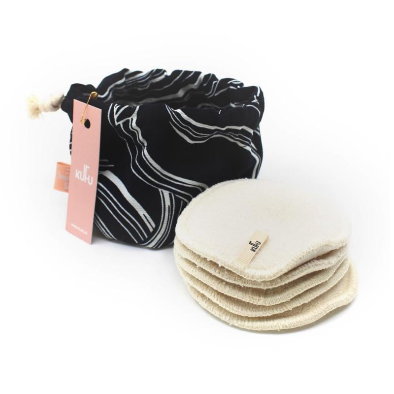 Kufu - Bourse de 5 cotons bio lavables - Wavy - Vegan, Bio & Made in France - Select store éthique Cosmétiques Vegans