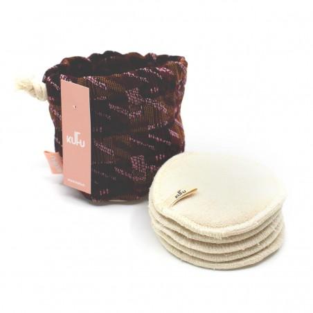 Kufu - Bourse de 5 cotons bio lavables - Tricoty - Vegan, Bio & Zéro déchet - Select store éthique Cosmétiques Vegans