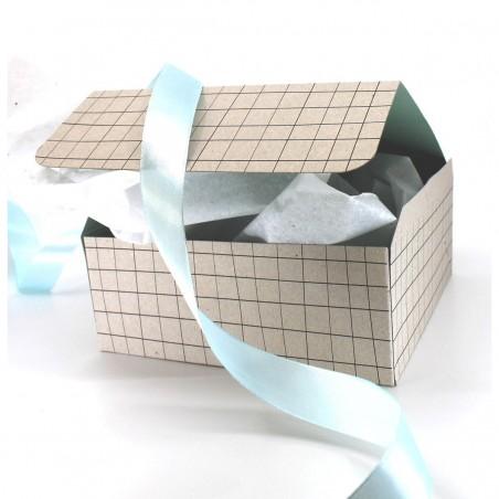 Boîte coffret cadeau - Carreaux Vert d'eau Cosmétiques Vegans - 3