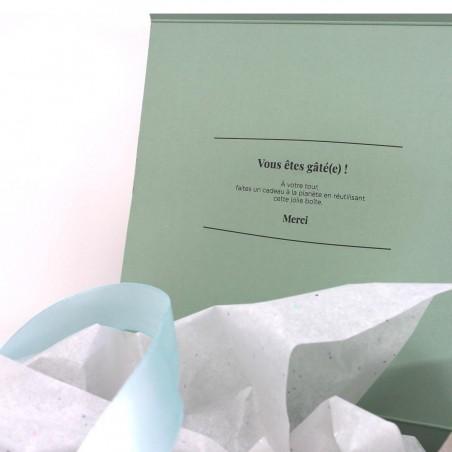 Boîte coffret cadeau - Carreaux Vert d'eau Cosmétiques Vegans - 4