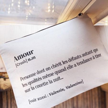 Hindbag - Trousse en coton bio - Spécial Amour - Idée Cadeau - Select store éthique Cosmétiques Vegan