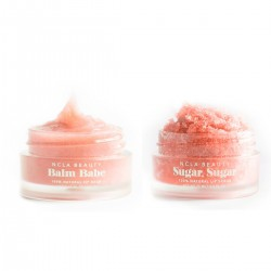 NCLA - Coffret Duo soin des lèvres Vegan & Naturel - Gommage & Baume - Pêche - Select store éthique Cosmétiques Vegans