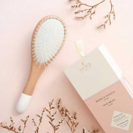 Bachca - Brosse à Cheveux en Hêtre - Accessoire salle de bain & cheveux - Select Store éthique Cosmétiques Vegans
