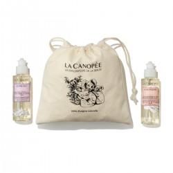 La Canopée - Coffret Gels Douche florales - Rose et Lavande - Vegan & 100% Naturelle - Select Store Cosmétiques Vegans