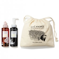 La Canopée - Coffret Nettoyage Visage Intense - Huile démaquillante et gel nettoyant - Vegan & 100% Naturelle