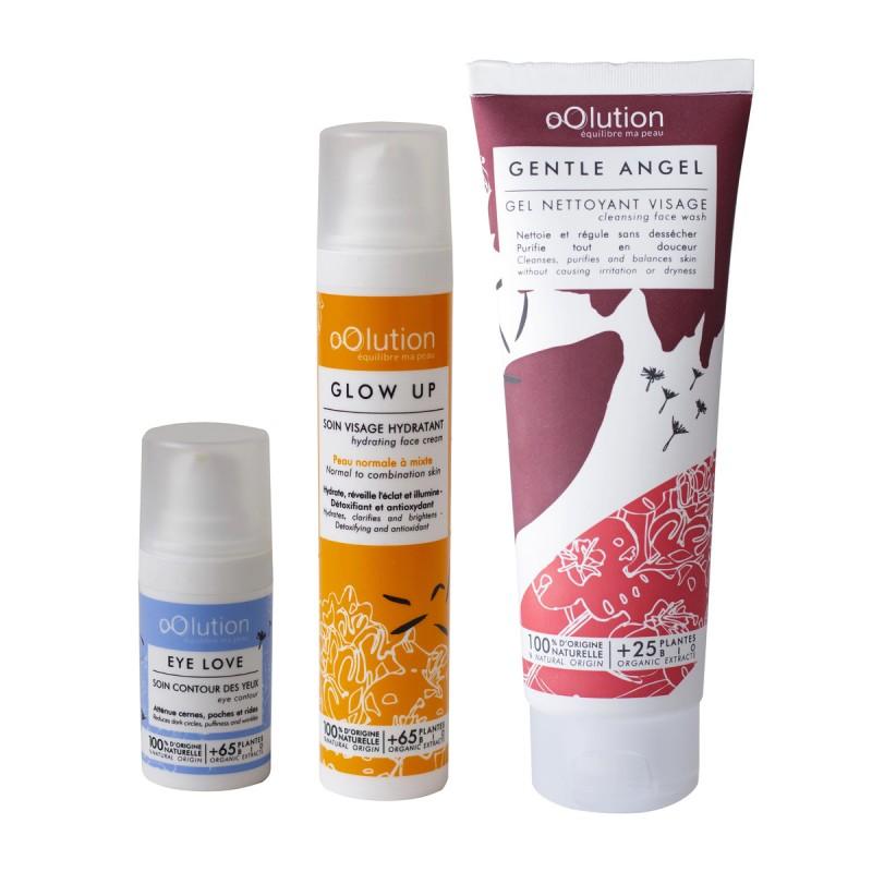 Oolution - Coffret Trio Soins Visage Bio - Soin nettoyant vegan, naturel & bio - Select store Cosmétiques Vegans