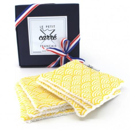 Pack 6 lingettes lavables - Eco-responsable & Zéro déchet - Cadeaux - Made in France - Cosmétiques Vegans