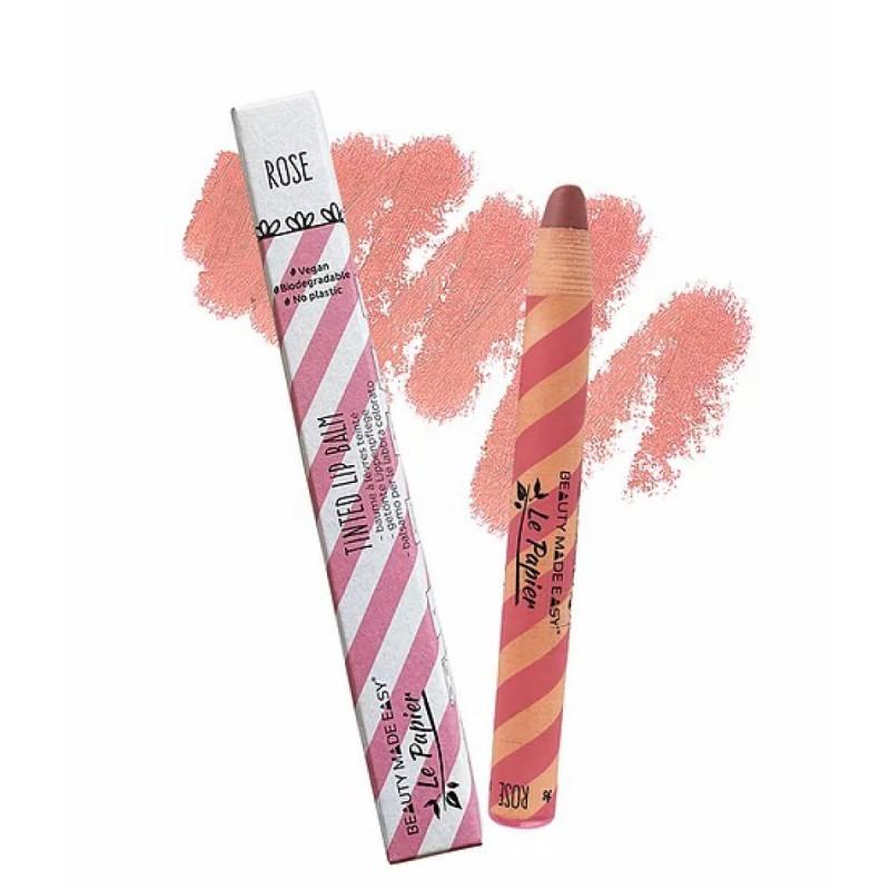 Le Papier - Lipstick - Baumle à lèvre teinté Glossy - Maquillage Vegan, Naturel & Zéro déchet - Select Store Cosmétiques Vegans