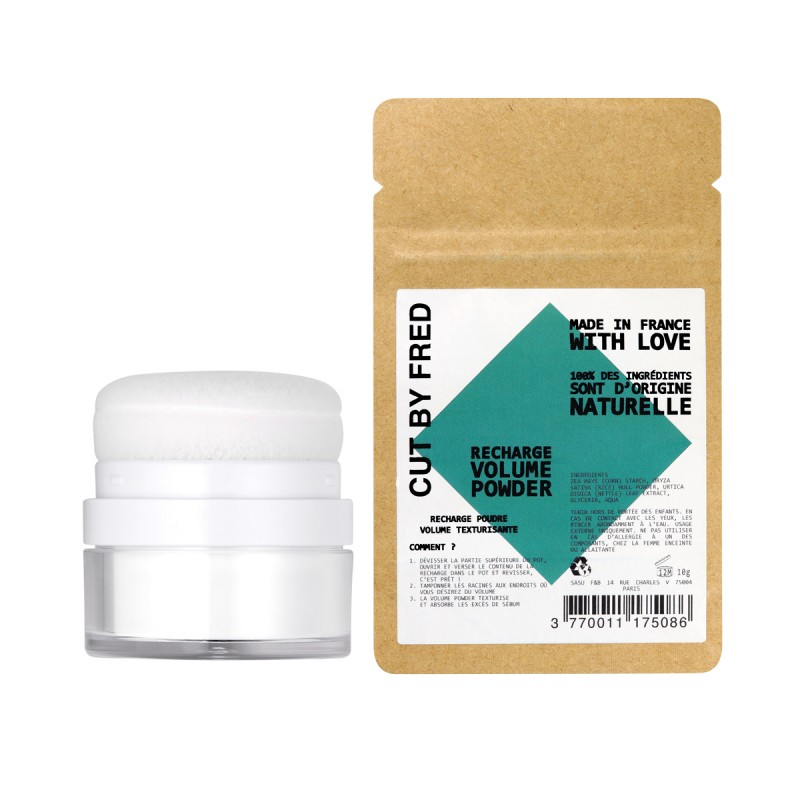 Cut by Fred - Coffret Duo - Shampoing Sec, poudre texturisante & Recharge - Vegan - Select store éthique Cosmétiques Vegans