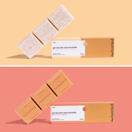 Unbottled - Duo Maxi Gel douche Sans bouteille par 3 - Cosmétique Solide & Zéro déchet - Select store éthique Cosmétiques Vegans