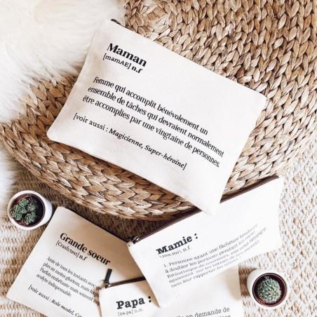 Hindbag - Trousse en coton bio - Spécial Maman - Idée Cadeau - Select store éthique Cosmétiques Vegan